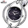 Weiqin cristal pulseira de prata assistir mulheres coração pingente pulseira relógios senhoras moda strass quartzo analógico - Watch relojes