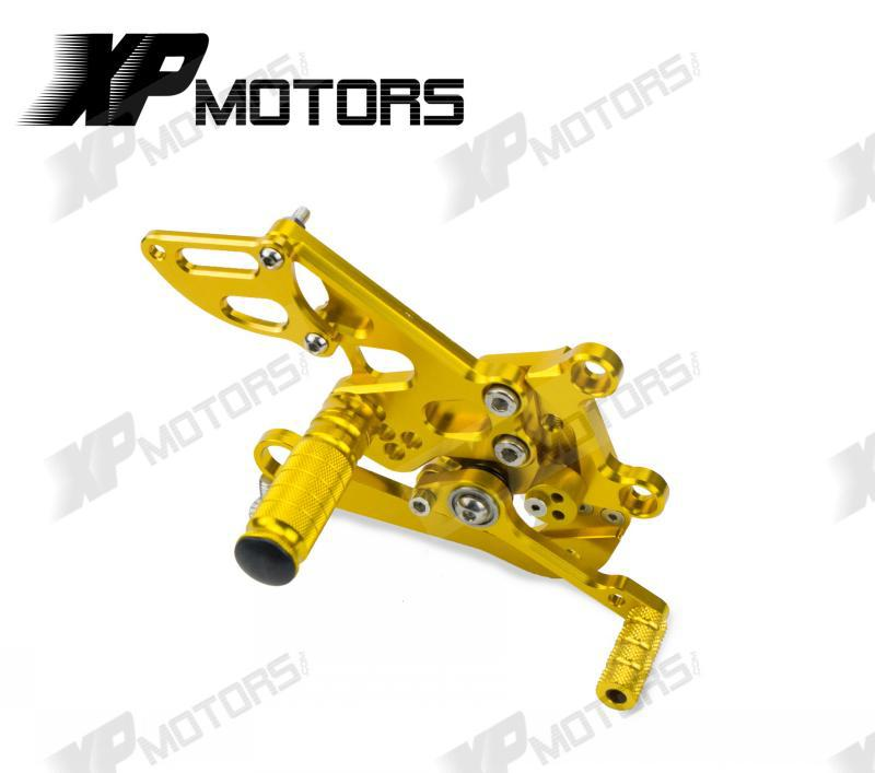 Racing Adjustable Rearset Rear Sets Foot pegs For Aprilia RSV4 R 2009 2010 2011 2012 2013 2014 Gold