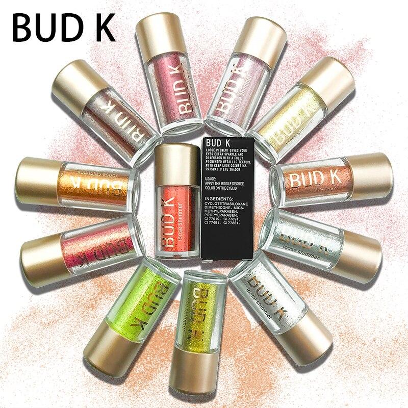 Beauty Essentials Bud K 2018 New Eye Shadow Professional Liquid 9 Colors Glitter Eye Shadow Waterproof Shining Liquid Eyeshadow Refreshment