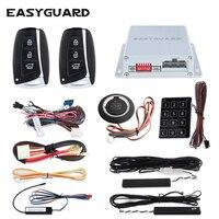 Универсальная версия EASYGUARD компания ПКЕ Авто аварийная система с удаленного запуска кнопка старт и сенсорный ввода пароля для DC12V автомобил