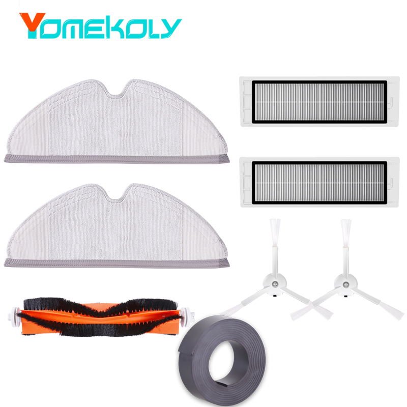 Spare Part for Xiaomi Vauum 2 Roborock S50 S51 2pc Side Brush 2pc Filters 2pc Mop Cloth 1pc Mian Brush 1pc Virtual Magnetic Wall