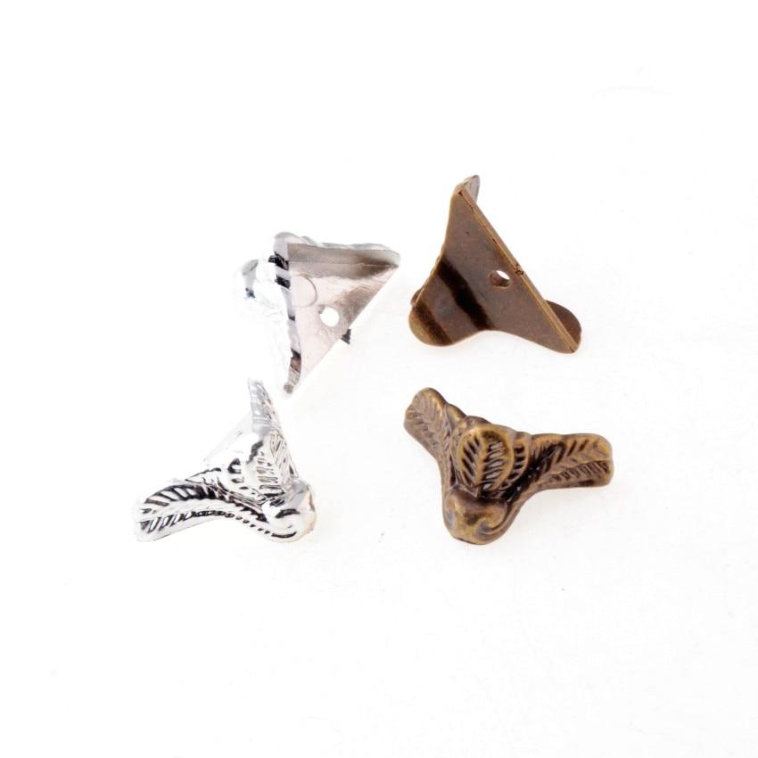 Free Shipping 12Pcs Jewelry Gift Box Wood Case Decorative Acrylic Feet Leg Corner Protector 30x24mm