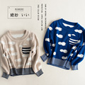 2016 Baby Boy Sweater for boys Cotton Autumn Causal Clouds Long Sleeve Kids Knitted Pullover Children Clothing  Free Shipping
