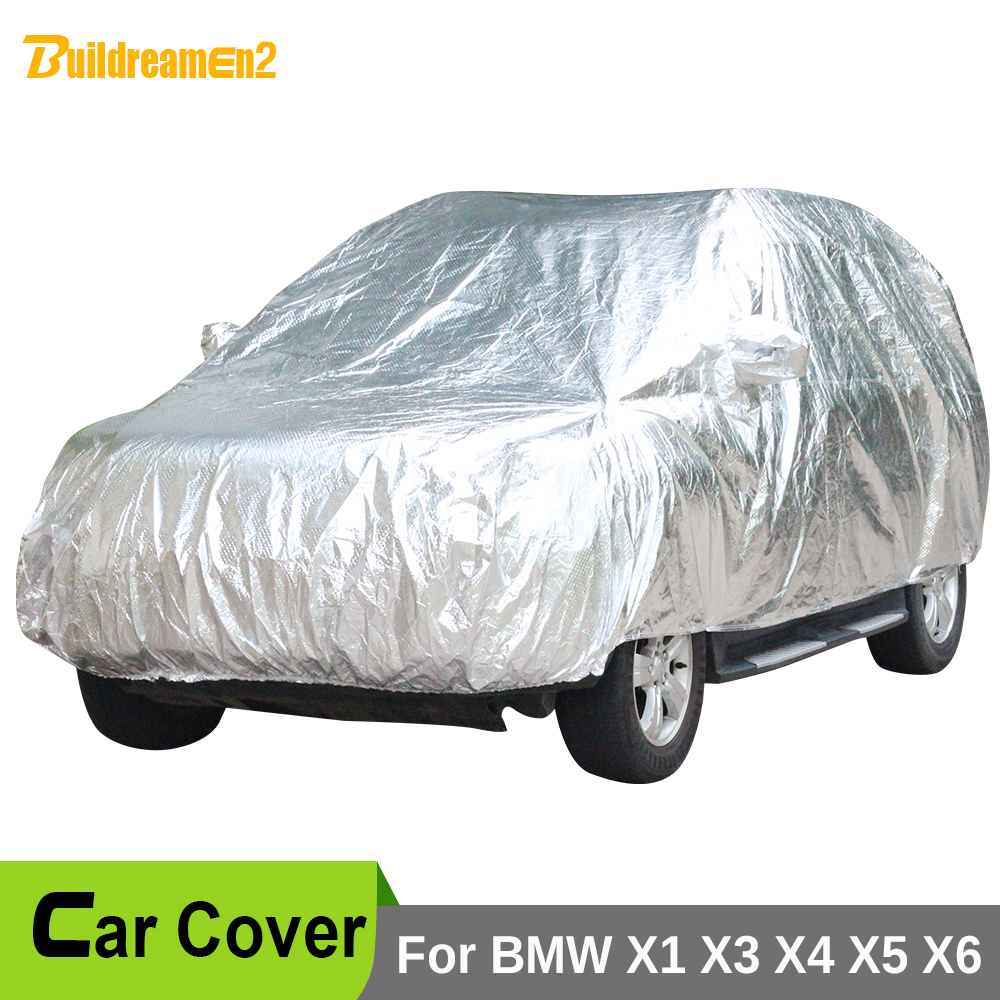 Buildreamen2 Car Cover Waterproof Sunshade Sun Anti-UV Snow Rain Hail Protection Thicken Cotton Cover For BMW X1 X3 X4 X5 X6 buildreamen2 car cover waterproof suv anti uv sun shield snow hail rain dust protective cover for gmc terrain acadia envoy yukon