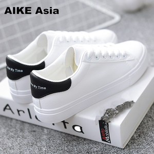 HOT Women Sneakers 2020 Fashion Breathble Vulcanized Shoes Women Pu leather Platform Shoes Women Lace up Casual Shoes White