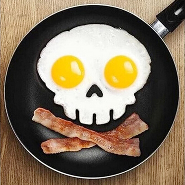 1pcs Creative Skull Shaped Egg Fried Mould Food Grade Silicone