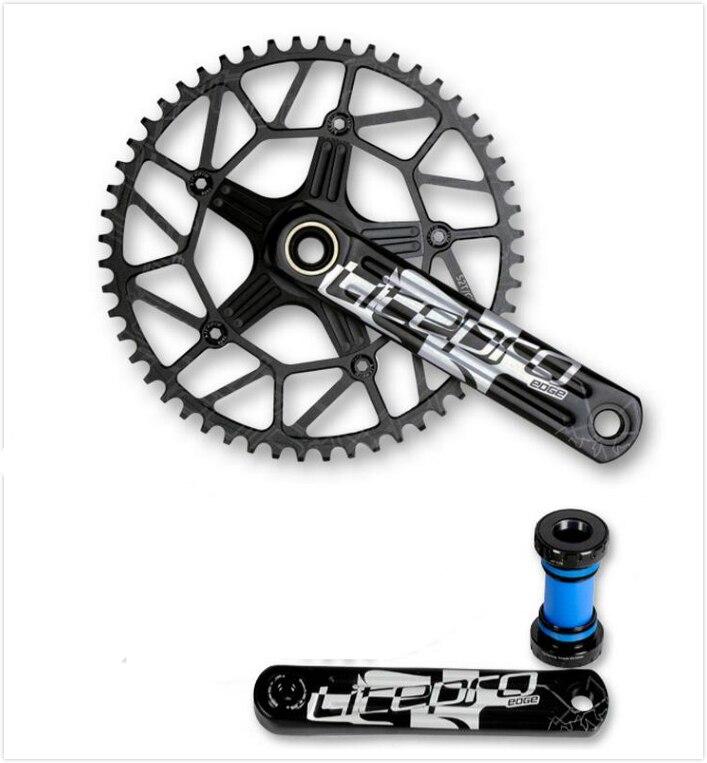 Nouveau pédalier de vélo de route à chaîne unique de conception creuse pédalier de vélo pliant 130BCD 170mm 52 T 54 T 56 T 58 T