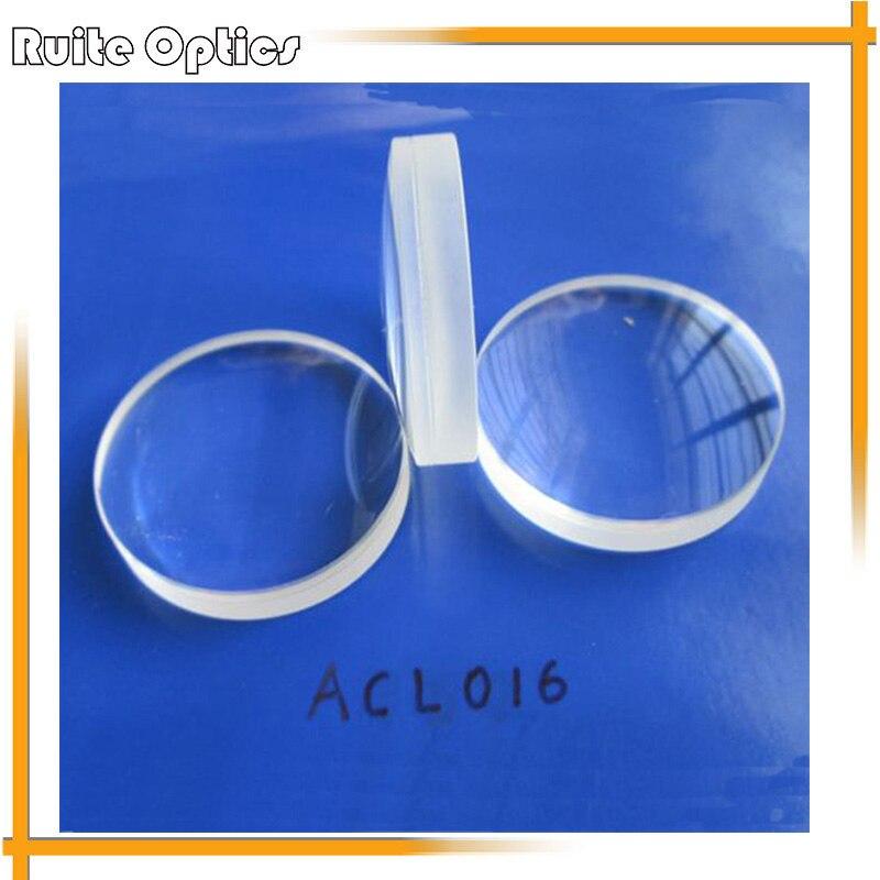 1 PC focale 86mm verre optique Doublet élément optique Plano convexe achromatique lentille en verre lentilles d'imagerie 30mm de diamètre