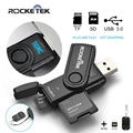 Rocketek same time read 2 cards USB 3.0 Memory Card Reader 2 Slots OTG phone Card Reader for SD, micro SD,TF, micro sdhc sdxc