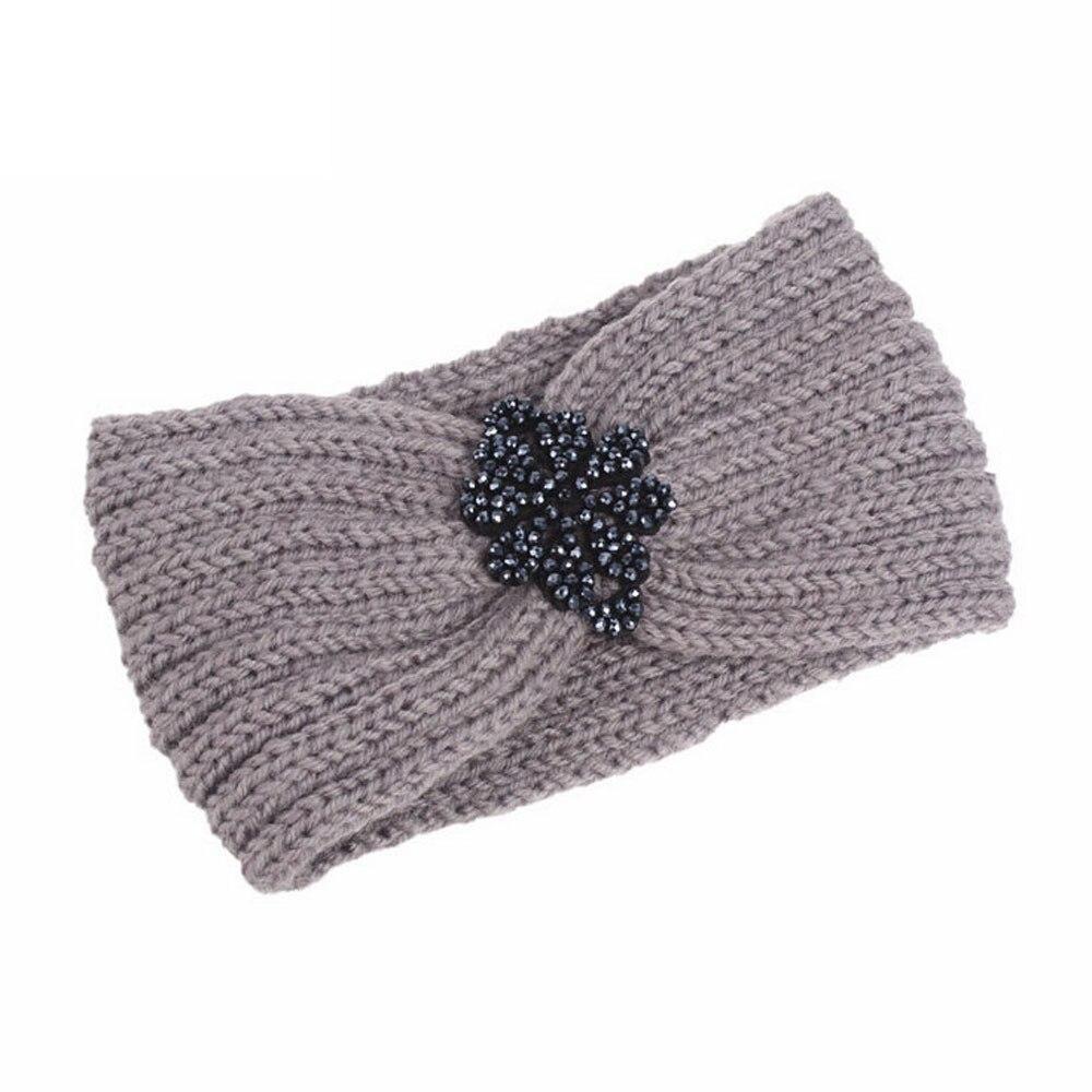 Hair Accessories Turban Solid Hair Band Knitting Handmade Keep Warm Pearl Hairband Headwraps Turbante Mujer Hair Accessories