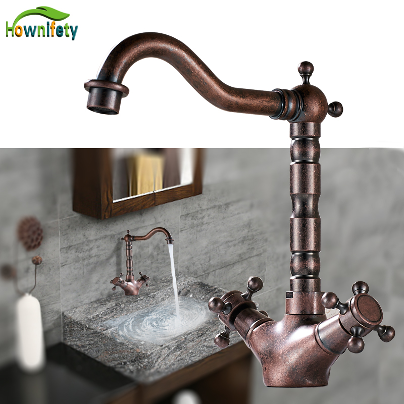 Bathroom Sinks,faucets & Accessories Basin Faucets Independent Fashionable Bathroom Carbon Lead Porcelain Single Hot And Cold Copper Faucet Double Color European-style Black Baking Paint