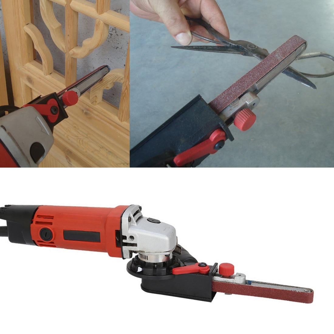 Mini DIY Sander Sanding Belt Adapter Bandfile Belt Sander for 115mm 4.5 and 125mm 5 Electric Angle Grinder Woodworking