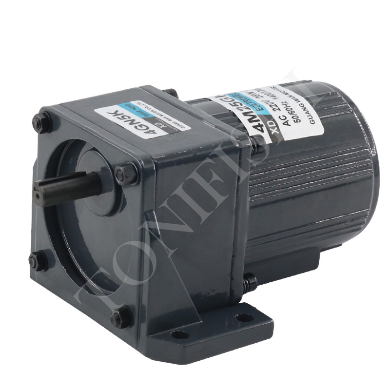 AC geared motor with brake and bracket 220V 25W gear reducer motor micro speed control small
