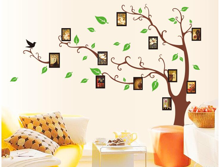 Buy 120 170 cm 3d diy photo tree wall for Diy family tree wall mural