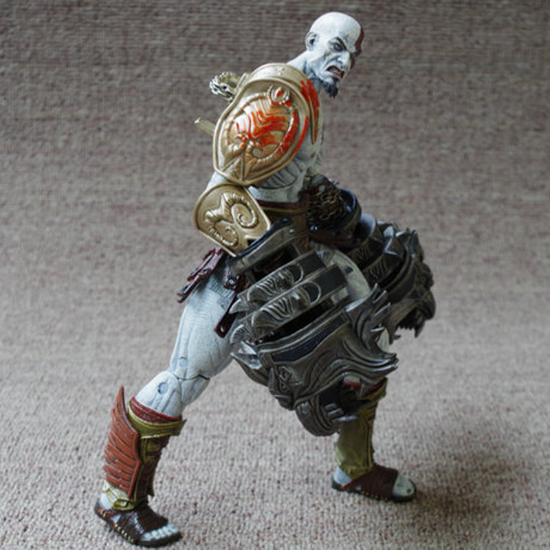 Stock sale NECA God of War 3 Ghost of Sparta Kratos PVC Action Figure Collectible Model Toy 22cm Free Shipping neca heroes of the storm dominion ghost nova pvc action figure collectible model toy 15cm