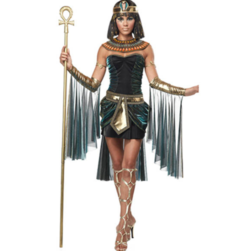 Sexy Deluxe Ladies Fancy Dress Cleopatra Egypt Womens Costume Egyptian Goddess Costume Egypt Queen Cosplay Costume L15192