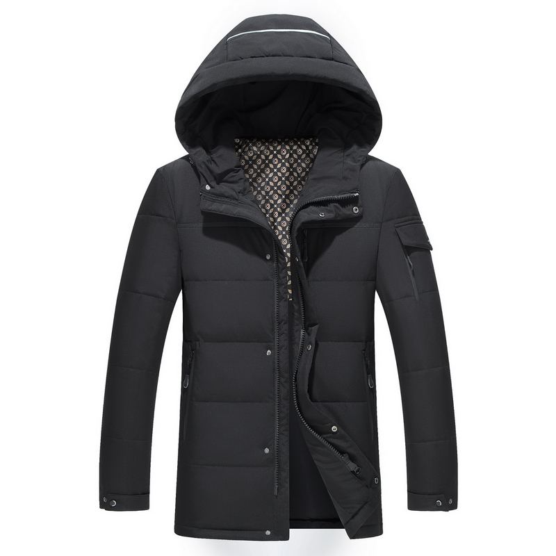 Men Long   down   jacket winter Outerwear Warm Hooded Men White Duck   Down     Coats   Hooded Thermal Windproof   Coat