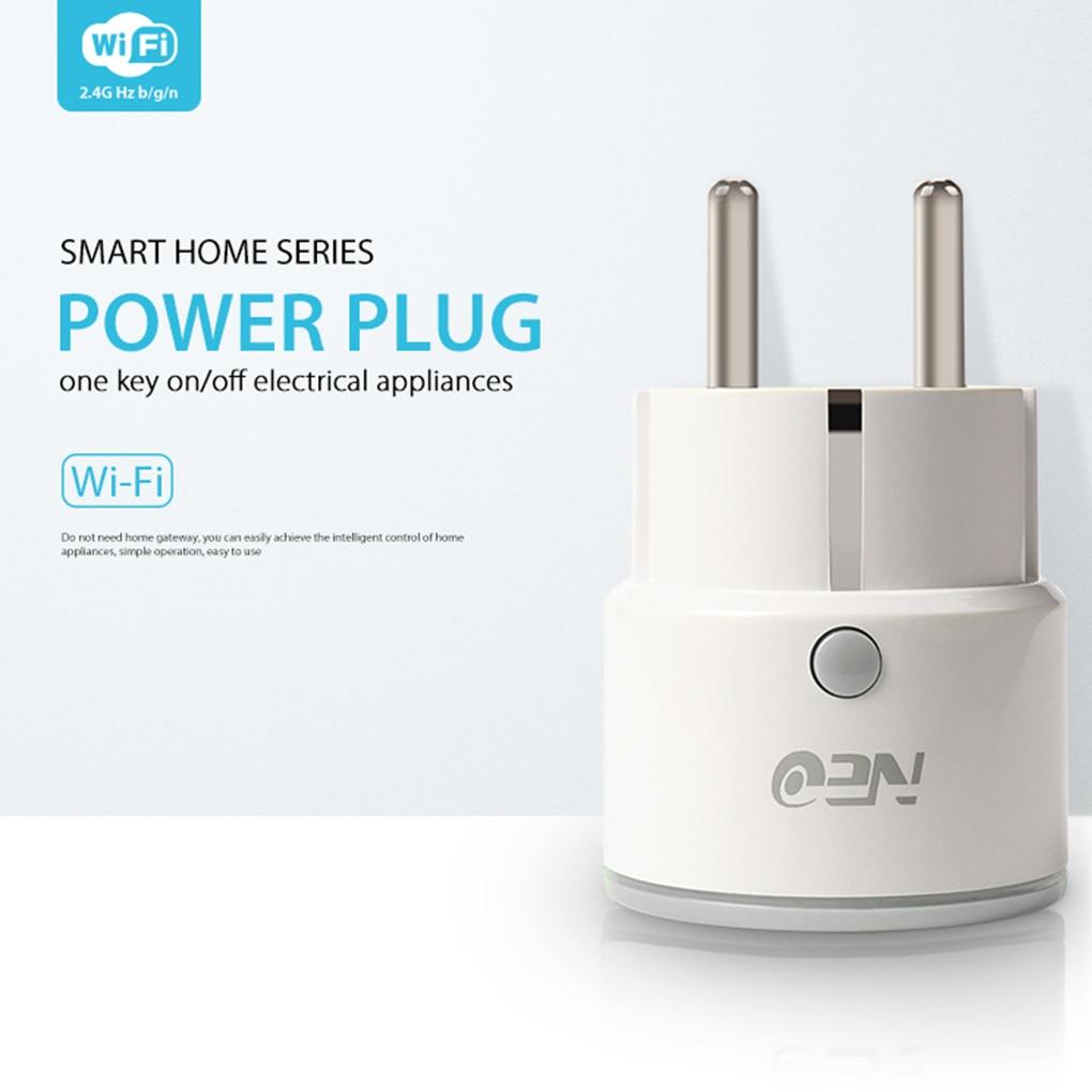 NEO Coolcam EU Plug Smart Socket Wireless 2.4Ghz WiFi Socket Support Smartphone Control for Alexa,Google Home,IFTTT