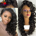 Cheap long wavy wigs synthetic lace front wig for black women glueless synthetic lace front wig heat resistant hair lace wigs