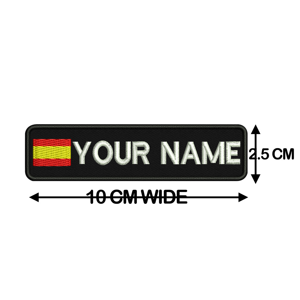 Image 3 - Custom SPAIN name patches tags personalized iron on hook backing-in Patches from Home & Garden