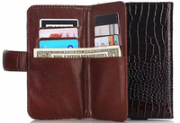 Outdoor Lady Strap Hand Card Wallet Leather Mobile Phone Cases Bags Pouch For Samsung Galaxy Express