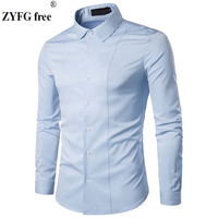 Men Casual Shirts 2018 Summer New Male Dress Shirts Men S Fashion Popular Slim Solid Color