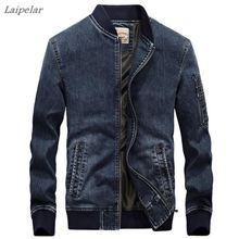купить 2018 Men's Denim Jacket New Fashion Autumn Men's Denim Jacket coat Solid color Laipelar по цене 3039.02 рублей