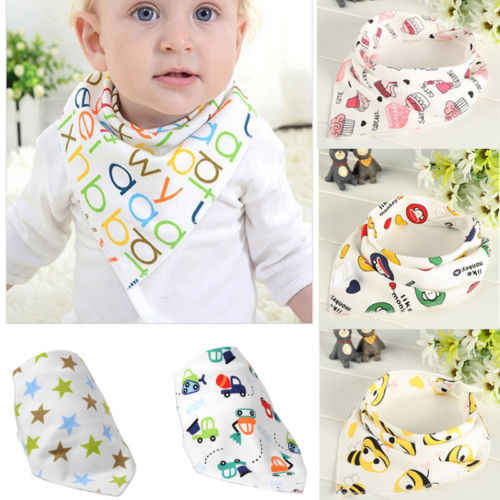 Soft Baby Bandanas Feeding Bib Infant Kid Triangle Head Scarf Saliva Towel Dribble Triangle Head Scarf