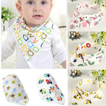 Soft Baby Bandanas Feeding Bib Infant Kid Triangle Head Scarf Saliva Towel Dribble Triangle Head Scarf(China)