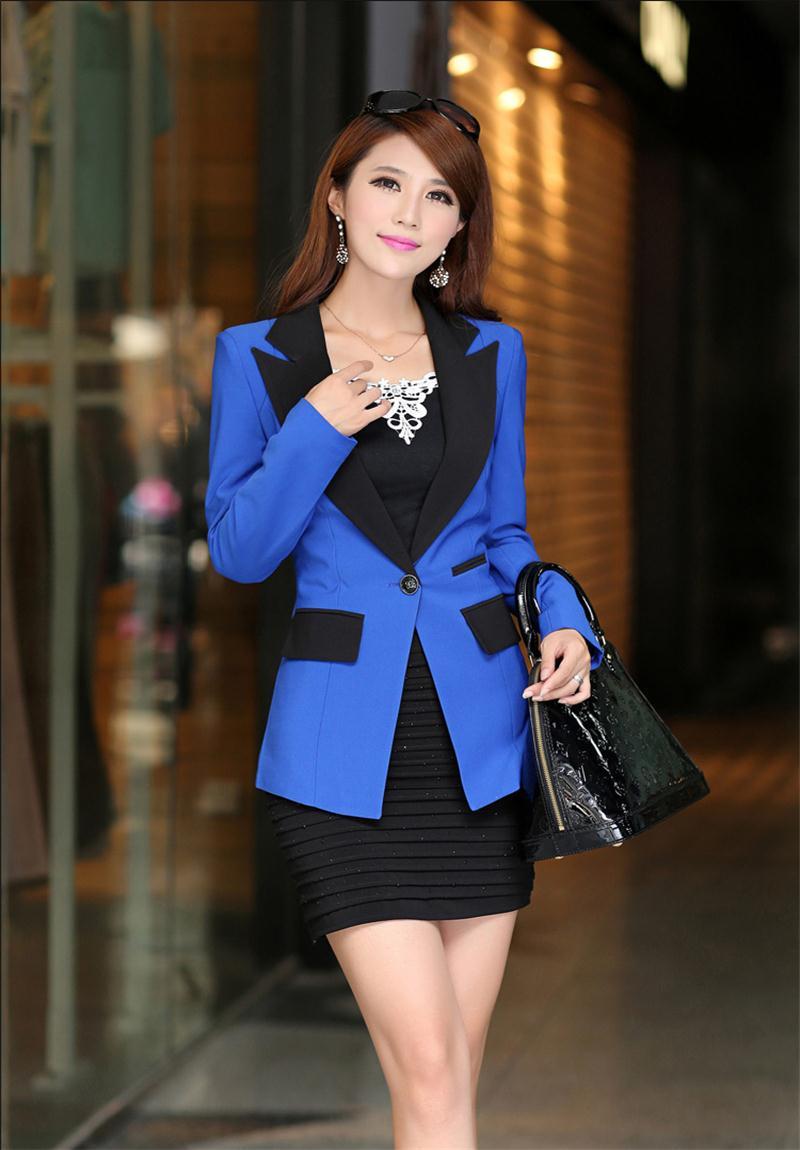 Blazer Feminino 2015 New Fashion Blazer Women Coats Quality Brand Design Long-sleeve Cardigans Women Blazers and Jackets Blaser