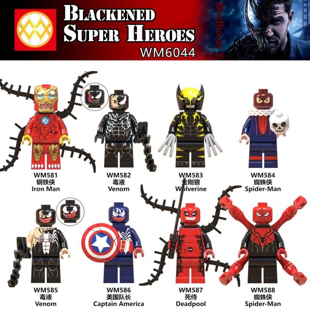 c61470b46 Legoing Marvel Batman DC Figures Kids Toys For Boys Legoing Super Heroes  Iron Man Spiderman Deadpool Action Building Blocks Gift