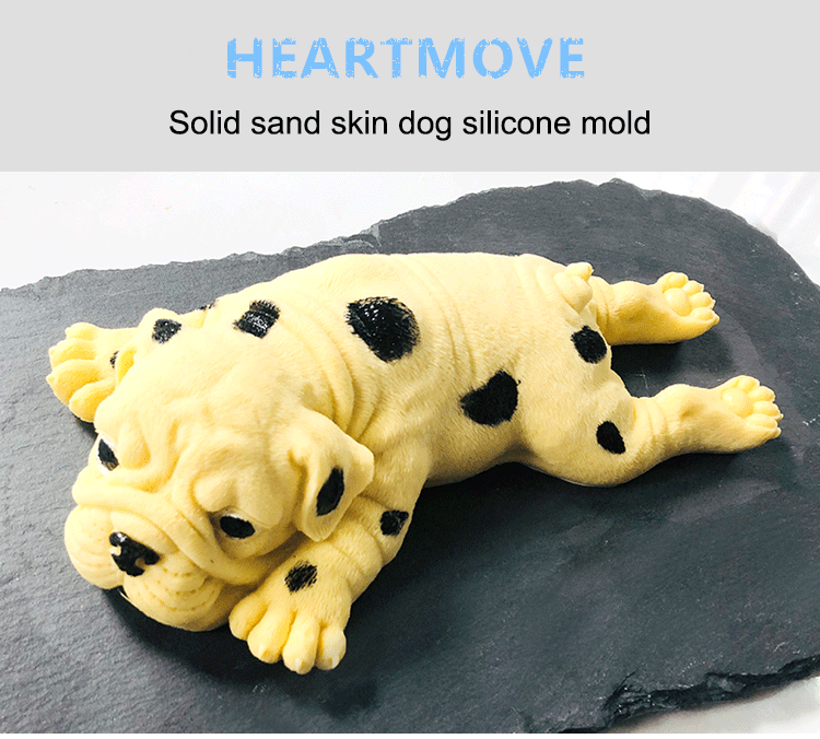 HEARTMOVE Cute Silicone Molds Shar Pei 3D Soap Mold Puppy Mousse Mold DIY Epoxy Animals Chocolate Mould Aroma Stone Moulds in Cake Molds from Home Garden