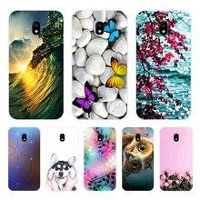 Caixa do telefone Para Samsung Galaxy J5 2017 UE J530 J530F Silicone Macio TPU Flor Capa Protetor Para Samsung J3 2017 UE J330 Bumper