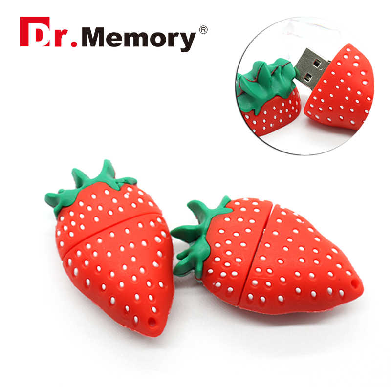 fruit style 8GB usb pendrive 16GB strawberry memory stick 32GB hot selling usb flash drive girl decoration