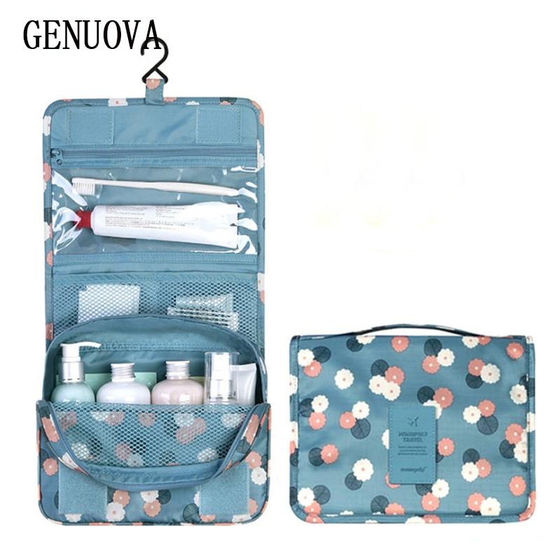 Hook Makeup Bag Travel Cosmetic Bag Organizer Case Women Men Waterproof Necessaries Large Make Up Cosmetics Bag Toiletry Storage