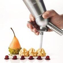 500 MLWhole Aluminium Schlagsahne Dispenser Pint Gourmet Whipper Edelstahl Dekorieren Düsen + Kunststoff-gebäck Rohr (272)