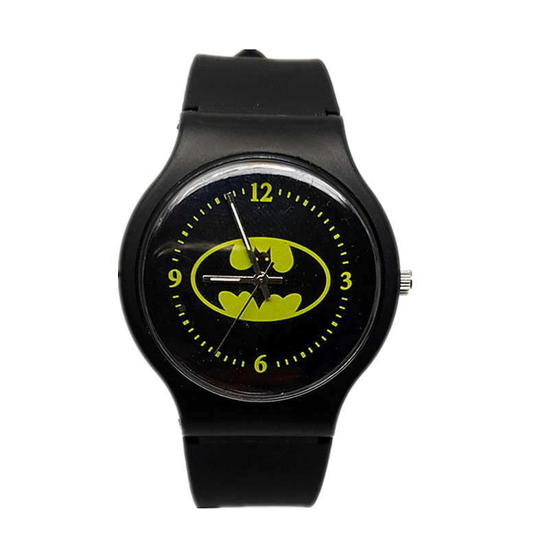 2019  New Kids Watch Kids Cartoon Batman Watch Cool Rubber Watch For Kids Boys And Girls