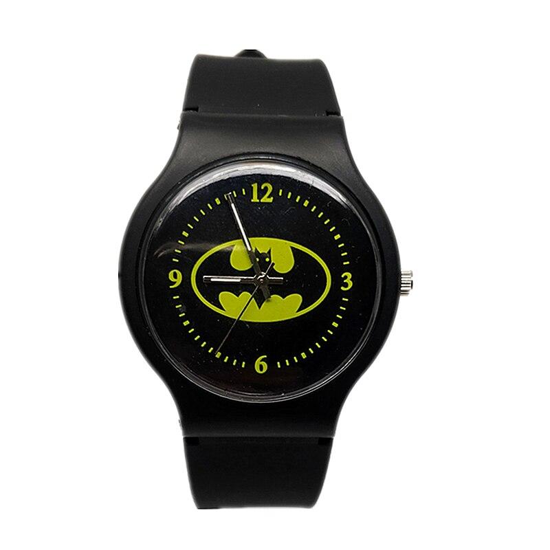 2019  New Kids Watch Kids Cartoon Batman Watch Cool Rubber Watch For Kids Boys And Girls