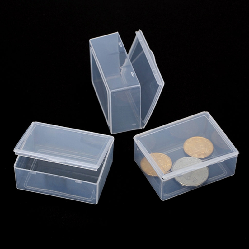 Rectangular Transparent Plastic Jewelry Display Storage