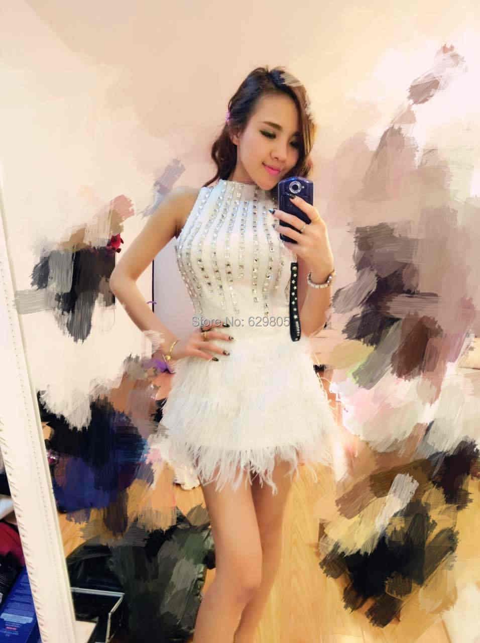 Женские пикантные белый меховой серебристыми блестками цельнокроеное платье комбинезон певица DS DJ Танцы костюмы боди Ночной клуб фотографии
