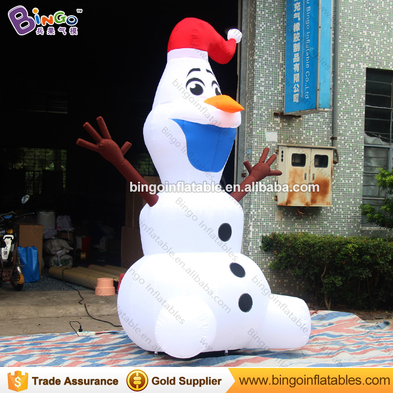 Christmas inflatable olaf hot sale gaint inflatable snowman / inflatable olaf snowman model for inflatable christmas decorations free shipping christmas inflatable snowman model decorative 4 meters high blow up snowman replica for event party toys