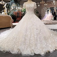 2018 Alibaba Mrs Win Korean Side Ball Gown Wedding Dresses