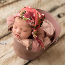 Don&Judy Red Newborn Photography Prop Flower Hat Caps Baby Photo Accessories Outfit Bonnet Costume