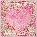 90 cm de La Mariposa Del Corazón Del Resorte Señora chales y pañuelos para las mujeres 2017 verano CALIENTE amarillo de seda viscosa bufanda niños pañuelo de cabeza A332
