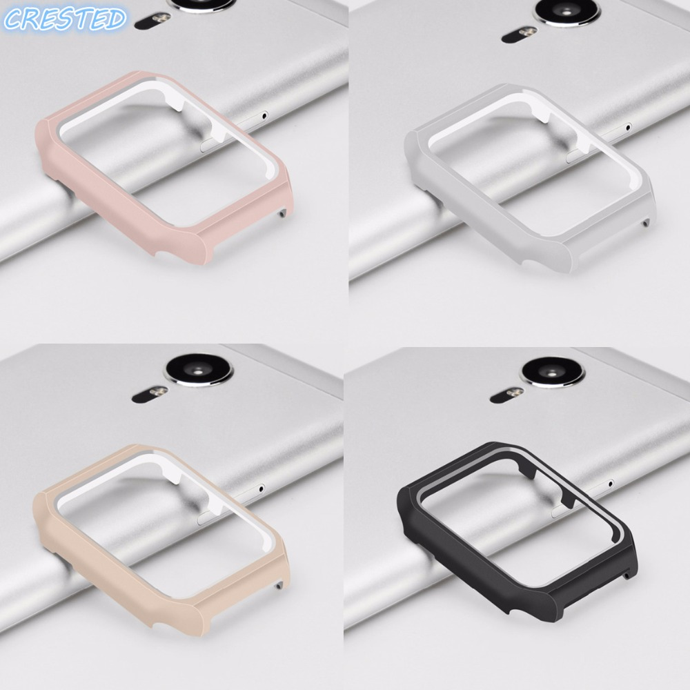 CRESTED protective Case for Apple Watch 42mm 38mm iwatch series 3 2 1 Watch Aluminium alloy Frame case cover shell black silver u shape aluminium alloy stand docking charger station holder for apple watch iwatch