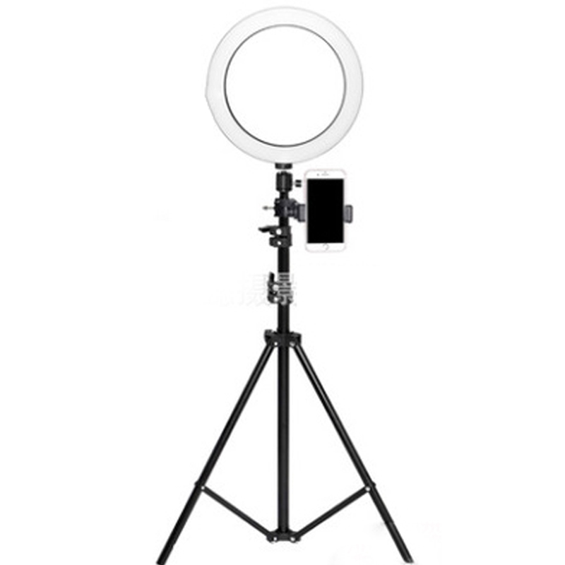 Diameter 26CM dimmable LED studio camera ring light photo mobile video light with tripod self timer