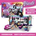 Бела 10403 друзья серии Поп-Звезда Студии Звукозаписи 175 шт. строительные блоки кирпичи игрушки детям подарок