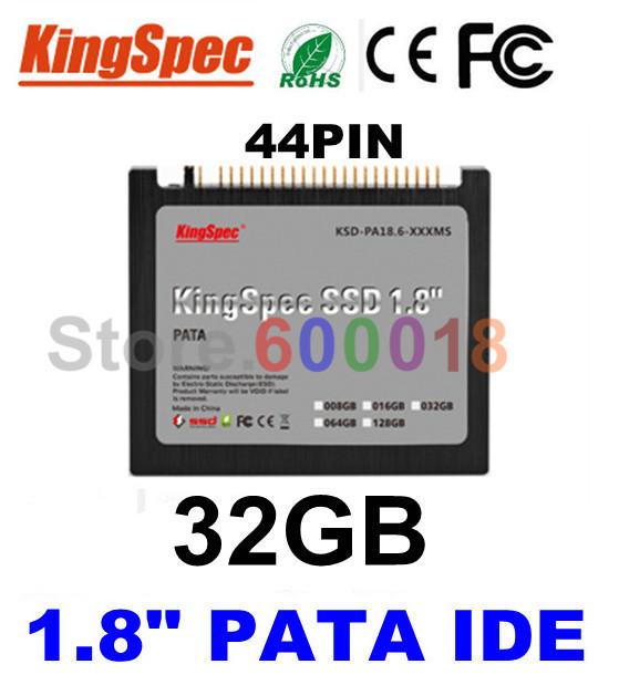 """L kingspec 1.8 """"polegadas PATA IDE 44PIN SSD hdd drive de Estado Sólido de 32 GB de Disco Rígido drive para ibm x40 x41 x41t frete grátis pela china post"""