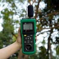 MASTECH MS6300 цифровой многофункциональный измерительный прибор для окружающей среды Температура влажность Звук потока воздуха метр люминомет