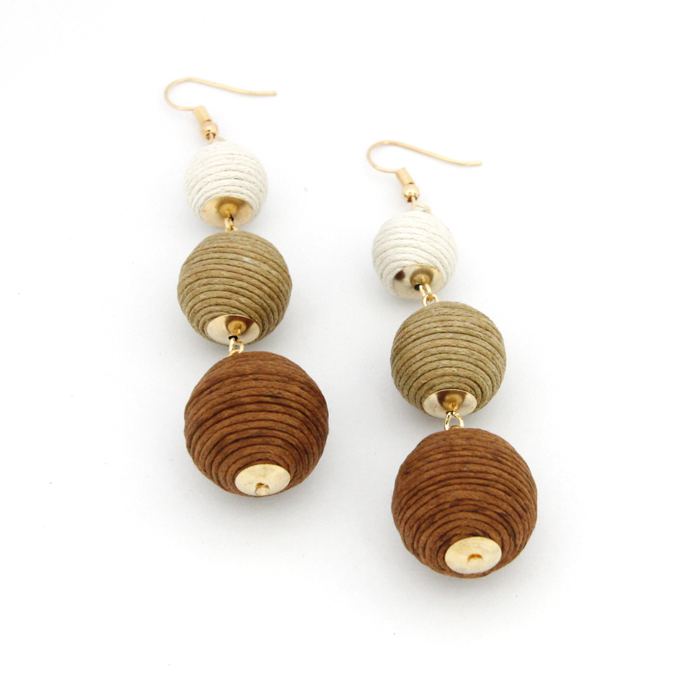 Legenstar Thread Ball baumeln Ohrringe für Frauen Pom Pom Drop - Modeschmuck - Foto 2